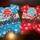 お祭り用ジャンプスーツ(赤&青)+くまのプーさんママバッグ
